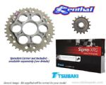 Renthal Sprockets and GOLD Tsubaki Sigma X-Ring Chain - Ducati Hypermotard 1100 (2010-2012)